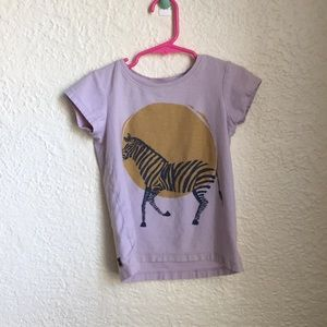 Tea Collection Girls Lilac Zebra T-Shirt Size S